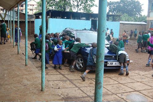 Car_Kibera Primary School